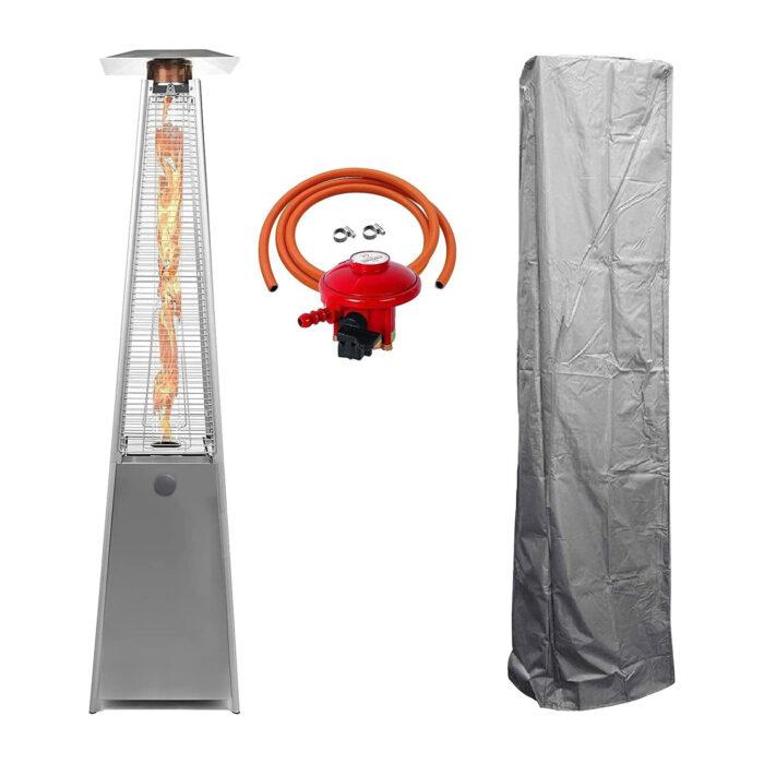 BU-KO Patio Gas Heater Stainless Steel