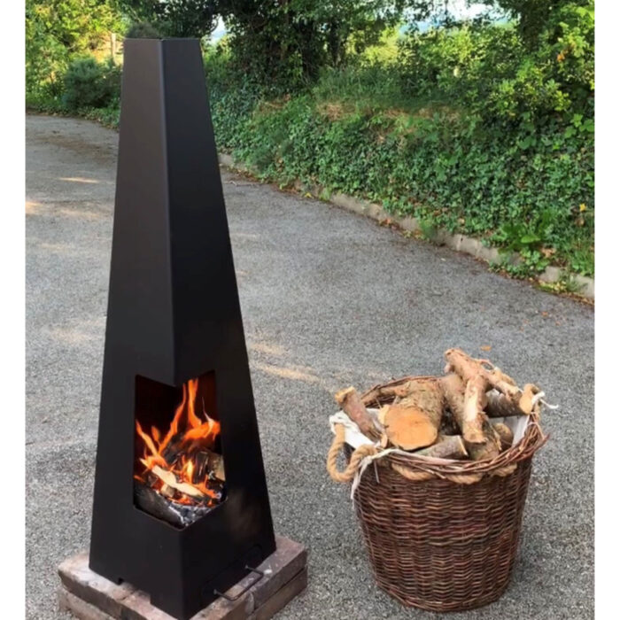 130cm Fire Pit, Chminea – Log Burner